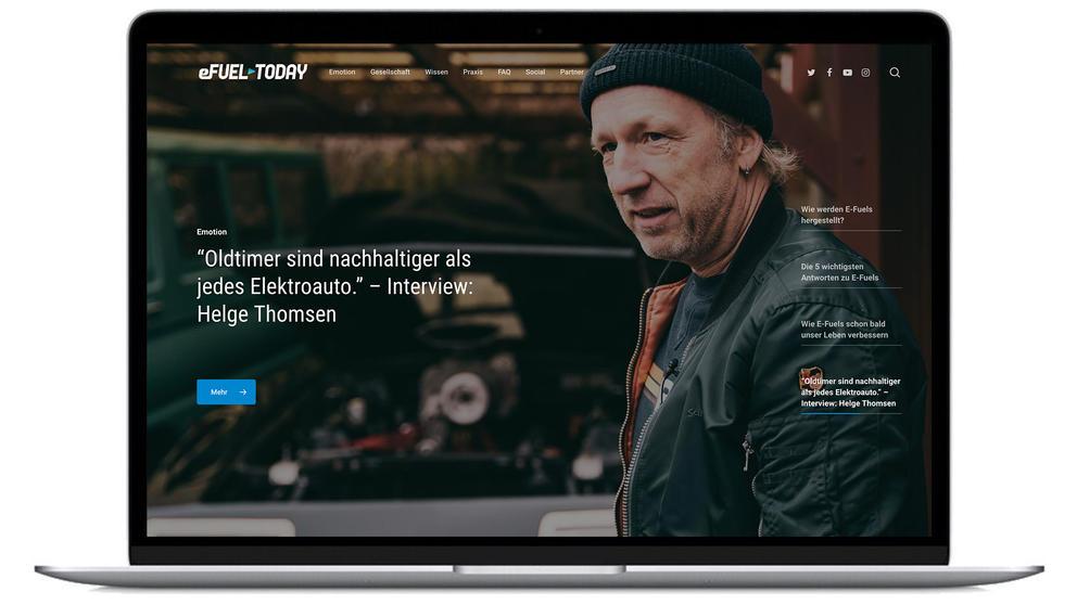 E-Fuel Webseite